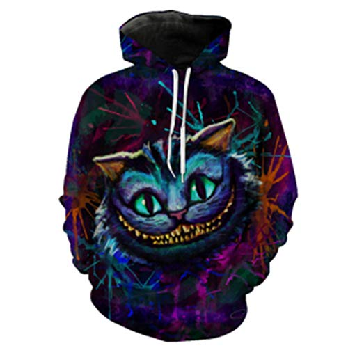 Cheshire Cat Kleid - PERAYINGS 3D Cheshire Cat Print Hoodies