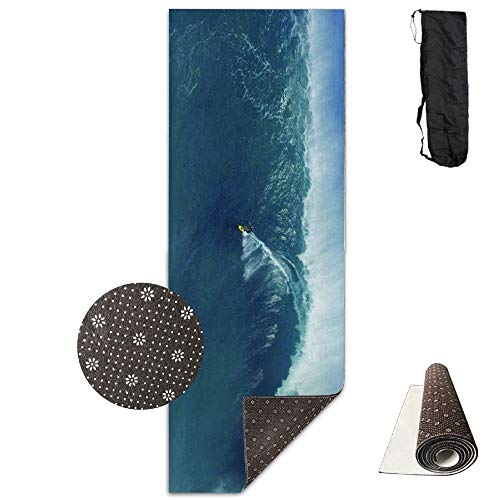 rcise Mat, Workout Mat for Yoga, People Are Surfing Yogamatte - Advanced Yogamatte - Non-Slip Lining - Easy To Clean - Latex-Free - Lightweight And Durable - Long 180 Width 61cm ()