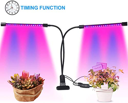 SHISOU [Verbesserte Auto on/Off 18W LED Wachsen Licht, 36 LEDs Dual Head LED Wachsen Lichter Mit Rot/Blau-Spektrum Und 360 Grad Justierbarer Flexible Schwanenhals Für Zimmerpflanzen