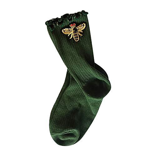 FRAUIT Pizza Unisex Performance Crew Socks Winter-Frau-Rohr-Socken-Hip Hop-Bienen-Muster-Mode-Weihnachten-Ins-Art-gewellte Seite