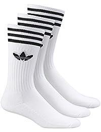 Adidas Socken Dreierpack - SOLID CREW SOCK S21489 - White-Black, Size:39/42