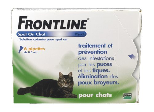 frontline-spot-on-chat-pipette-antiparasitaire-merial-boite-de-6-pipettes