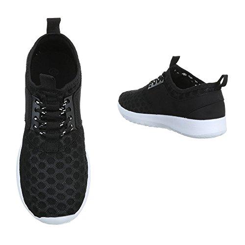 Ital-Design, Sneaker donna Schwarz QH-7