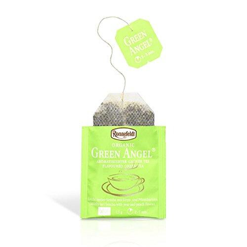 Ronnefeldt Teavelope Green Angel, Aromatisierter Grüner Tee mit Birne-Pfirsichgeschmack, Bio-Qualität, Teebeutel (25 x 1,5 g)