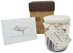 Mindfulness Gift: un mese Mindfulness Challenge–Set di 31giorni di Memori compiti, splendidamente stampato.