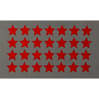 """Reflektierendes Aufkleberset """"Sterne, 36 Stück, rot"""", reflex_006_rot, Ø 2cm pro Aufkleber, Reflexion, Leuchtaufkleber, Aufkleber für Bike, Helm, Auto, Sicherheit für Kinder"""