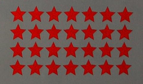 """Reflektierendes Aufkleberset """"Sterne, 36 Stück, rot"""", reflex_006_rot, Ø 2cm pro Aufkleber, Reflexion, Leuchtaufkleber, Aufkleber für Bike, Helm, Auto, Sicherheit für (Lkw Heckscheibe)"""