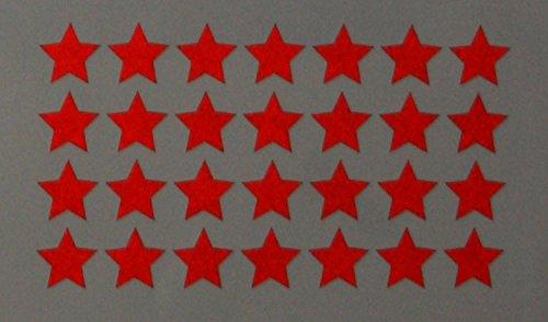 """Reflektierendes Aufkleberset """"Sterne, 36 Stück, rot"""", reflex_006_rot, Ø 2cm pro Aufkleber, Reflexion, Leuchtaufkleber, Aufkleber für Bike, Helm, Auto, Sicherheit für Kinder (Pro Trike)"""