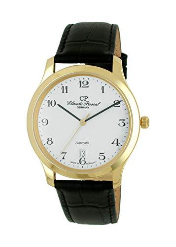Claude Pascal 394293 EA - Orologio da polso automatico da uomo, oro giallo 750, 18 carati, diametro 38,5 mm