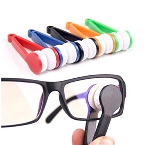 sunnymi Fashion Brille Reiniger Pinsel/Kunststoff-Mikrofaser-Material/Einfach Zu Bedienen Und Zu Tragen/Brillenreinigungswerkzeug (Tröster Set Tragen)