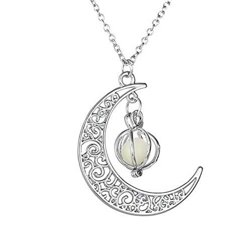 JUNGEN Mond Ketten Leuchtender Halsketten Halloween Clavicle Halskette Halloween Kostüm Dekoration für Frauen und ()