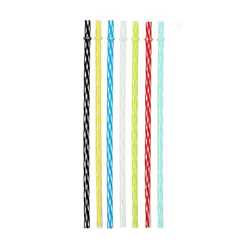 XAOBNIU El Hilo plástico Transparente Paja Colorida