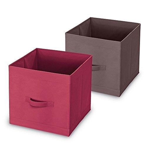 wohnideenshop Schrankkorb Mister Pack in grau 32x32x32cm für IKEA Kallax expedit Dröna