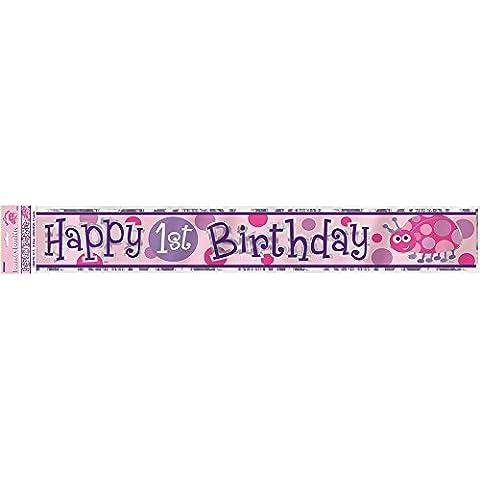Unique Party 3.65m Foil Ladybug 1st Birthday Banner