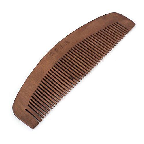 DealMux 2 Breite Kaffee-Farbe Haarpflege Werkzeug Naturholzkamm für die Dame