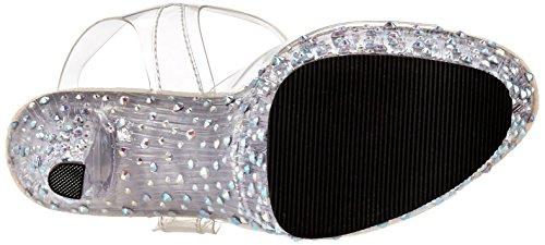Pleaser Stardance-708, Sandales Plateforme Femme, 40 EU Transparent (Transparent)