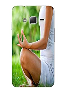 Make My Print Yoga Printed Multicolor Hard Back Cover For Samsung Z1