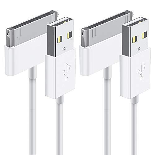 TechRise iPad 2 kabel, iPhone 4s kabel, 2-Pack MFI CERTIFIED Sync und Ladekabel (Länge 1 Meter) für iPhone 4/4S, iPhone 3G/3GS, iPad 1/2/3, iPod(2, Weiß)