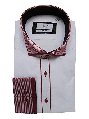 MUGA -  Camicia classiche  - Basic - Maniche lunghe  - Uomo Bordeaux