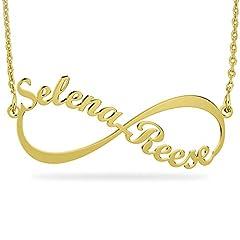 Idea Regalo - Collana Infinito personalizzabile con nome - Oro Placcato 18K su Argento Sterling