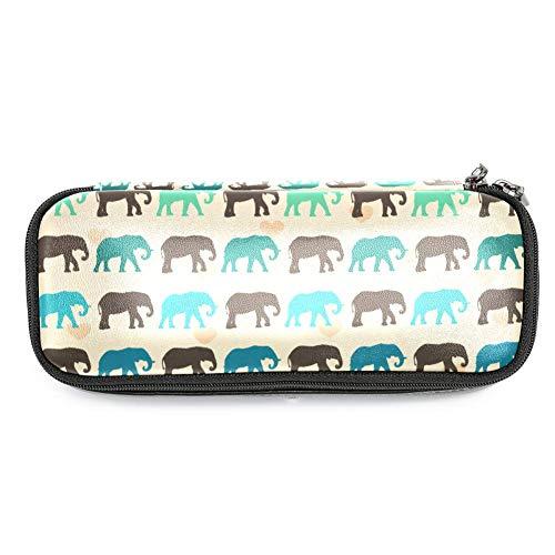 TIZORAX - Estuche colorido con diseño de elefantes para lápices, maquillaje, estudiantes,...
