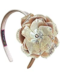 Jamie Rae Hats- Gold Hard Headband with Sequins Gold Rose