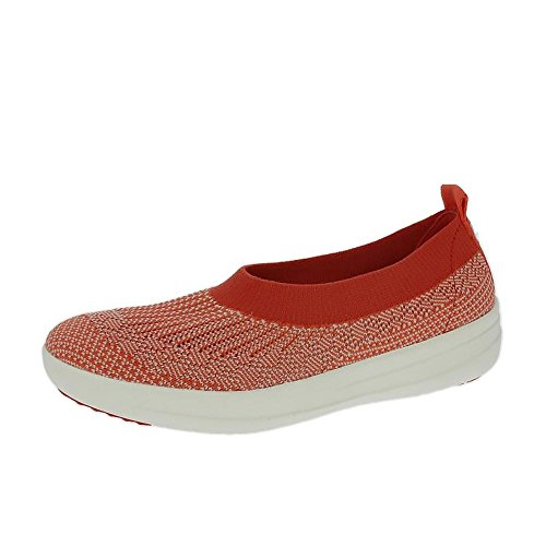 fitflop-uberknit-slip-on-ballerine-chaussures-chaude-neon-corail-fard-a-joues-uk4-chaud-coral-neon-r