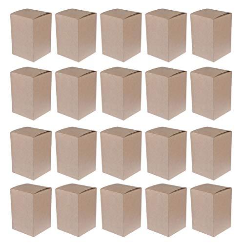 20 Pack Scatole di Cartone Kraft Nero Gioielli Matrimonio - Scatola Regalo Bomboniera Scatole Cartone Piatte Presentazione Adatte Pacchi Feste