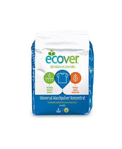 Ecover Universal Waschpulver Konzentrat Lavendel, 4er Pack ( 4 x 1,2 kg) (Waschmittel Konzentrat)