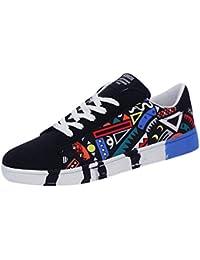 GiveKoiu Scarpe Ginnastica Uomo Scarpe da Corsa Scarpe Sportive da Uomo Antiscivolo Mesh Round Breathable Running Shoes Scarpe Stringate Uomo Sneakers Espadrillas Lace-Up Sport Shoes Graffiti Shoes