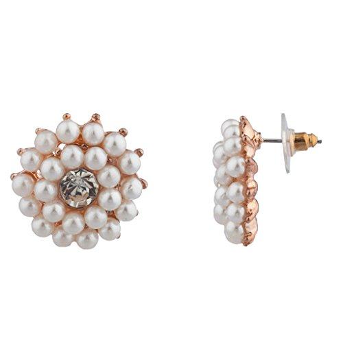Lux accessori sposa da sposa damigella d' onore Faux perla stella, sole fiore Orecchini a perno con motivo