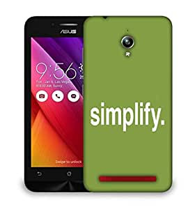 Snoogg Simplify Designer Protective Back Case Cover For Asus Zenfone GO
