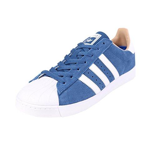 adidas Superstar Vulc ADV Blue White Gold Blau