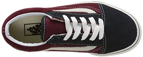Vans Unisex-Kinder Old Skool Mehrfarbig (Vintage/Blue Graphite/Windsor Wine)