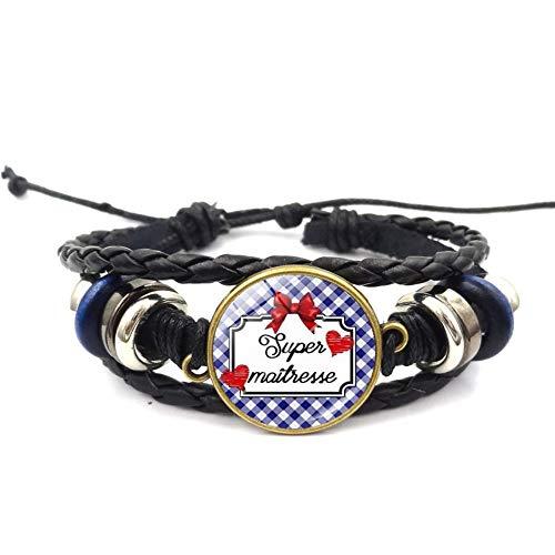 Männer Armbänder Armband Bettelarmband,Lehrer Geschenk Zeit Edelstein Roter Bogen Muster Armband Europa Und Amerika Hand-Woven Armband Armband Woven Bogen