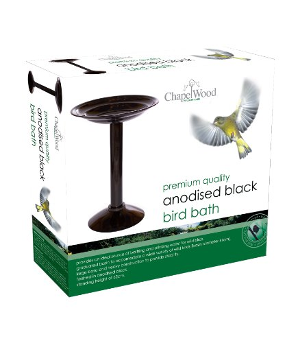 Chapelwood Bird Bath, Anodised Black