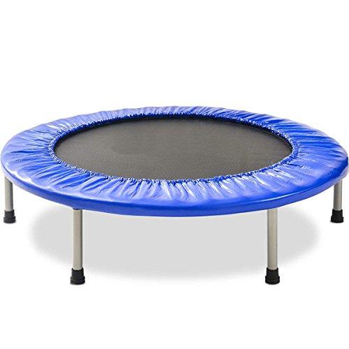 JULYFOX Trampolin Fitness 120KG, Minitrampolin für Kinder Oder zur Fitness für Erwachsene, Jumping Trampolin Faltbar Indoor Outdoor Trampolin Jumper 102cm
