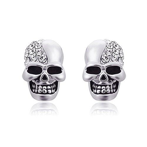 Un par de clásica pendientes Calavera Cráneo Calavera...