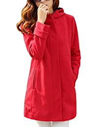 Yasong Women's Girl's Lined Quilted Padded Warm Hooded Cape Coat Faux Wool Coat Trench Coat Peacoat Outerwear