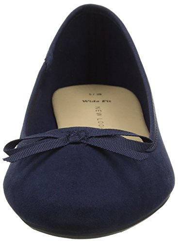 New Look - Wide Foot Laire, Ballerine basse Donna Blue (Navy)