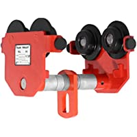 VEVOR Push Beam Trolley Spingere Fascio Trolley 500KG/1000KG/2000KG/3000KG Supporto A