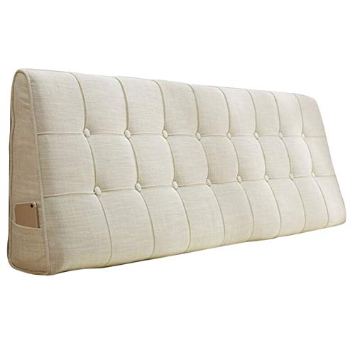 LPD-Stützbet Keilförmiges Bettkissen Kopfteil Für Bett Wohnaccessoires Möbel Schlafzimmer Betten Kopfenden Leinenstoff Einfach Modern, 7 Farben, 7 Größen
