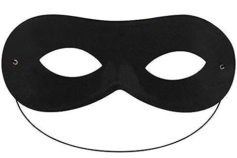 Damen Herren Schwarz Domino Form Super Hero Batman Eye Maske Masquerade Fancy Kleid (Green Hornet Kato Kostüm)