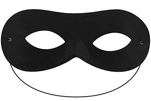 Global Fashion Damen Herren Schwarz Domino Form Super Hero Batman Eye Maske Masquerade Fancy Kleid