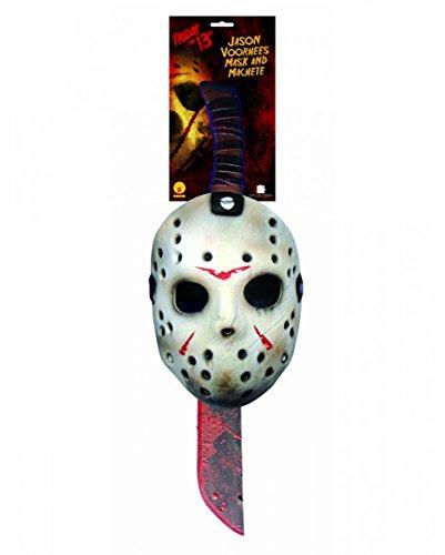 Jason machete e mask set