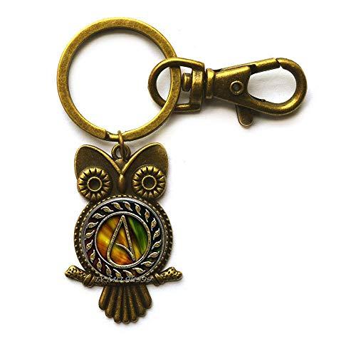 Atheist Eule Schlüsselanhänger, Atheist Schmuck, Atheist Symbol, Atheismus-Eule, handgemacht Y227