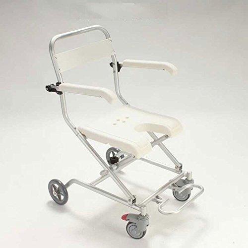 duschstuhl fahrbar RAQ Bad-Stuhl-Aluminiumlegierung fahrbarer älterer Baden-Rollstuhl-Duschstuhl