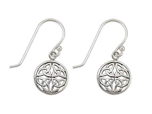 Nature Rebel Ohrringe Keltischer Trinity Knoten der Unendlichkeit 925 Sterling Silber (Ohrring Keltische)