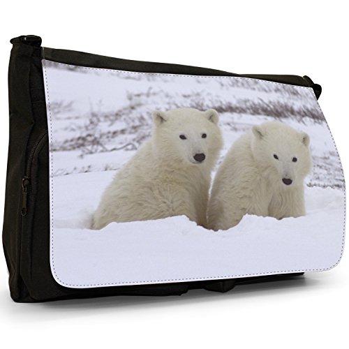 Fancy A Bag Borsa Messenger nero Polar Bear Polar Bears