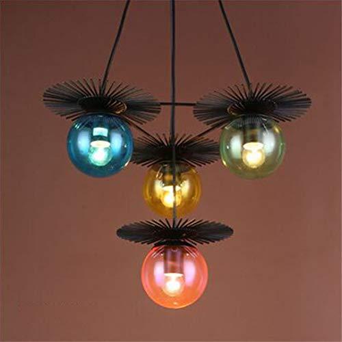CRESDAR&L Modern Pendelleuchten E27 Metall Glas Überzogene Schnur Anhänger Loft Hängelampe Für Hotel Esszimmer Industriedekor Lampe 4 Heads H 31-40W -